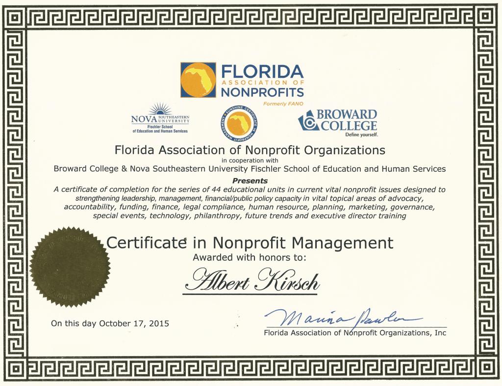 certificate albert